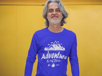 Camiseta manga larga hombre Adventure is out there ✔ Entrerocas