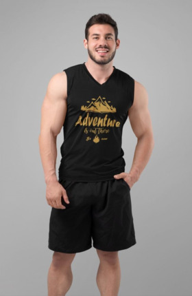 Camiseta manga corta hombre Adventure is out there ✔ Entrerocas