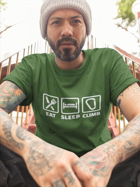 Camiseta eat sleep climb