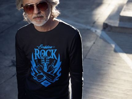 Camiseta manga larga hombre Evolution Rock ✅ Entrerocas