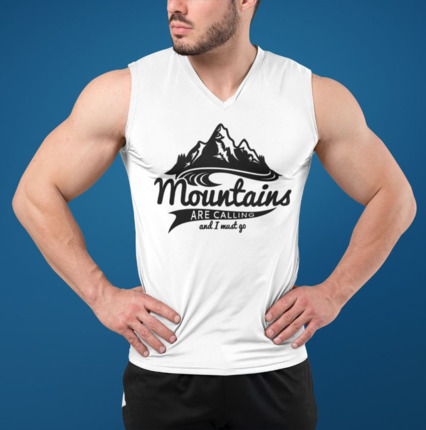 Camiseta sin mangas hombre Mountains are calling | Entrerocas