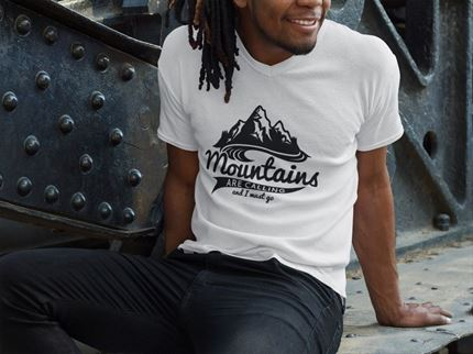 Camiseta manga corta hombre Mountains are calling ✅ Entrerocas